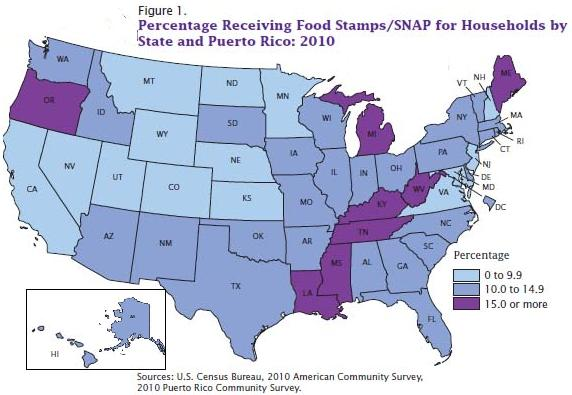 Getting Food Stamps In  Different States